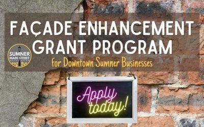 Façade Enhancement Grant Program for Downtown Sumner Businesses
